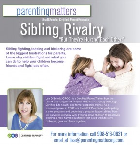 "Sibling Rivalry: ""But They're Hurting Each Other!"" (for all parents) @ Calvary Episcopal Church 