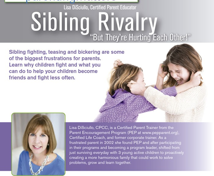 "Sibling Rivalry: ""But They're Hurting Each Other!"" (for all parents)"