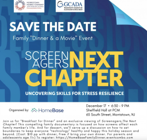 Screenagers NEXT CHAPTER: Uncovering Skills for Stress Resilience @ Presbyterian Church Morristown, Sheffield Hall